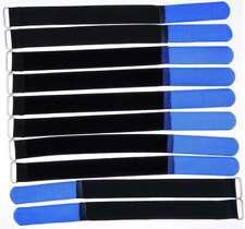 10 Kabelbinder Klettverschluss 30 cm x 25 mm blau Klettband Klettkabelbinder Öse