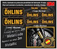 Decal Set Ohlins metallic ,stickers-pegatinas-aufkleber-autocollants-adesivi,