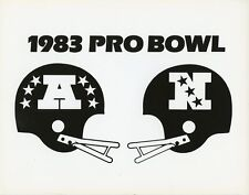 AFC NFC 1983 PRO BOWL LOGO FOOTBALL ORIGINAL 1983 ABC TV PHOTO BILLBOARD