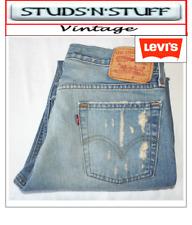 "VINTAGE LEVIS 527'S BOOTCUT RAW CUT JEANS  W34"" L31"" APROX SIZE UK 14  (T417)"