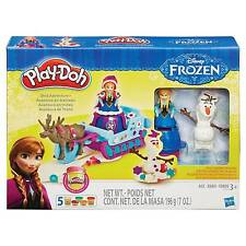 Hasbro Play-Doh Disney Frozen Sled Adventure 5 Cans B1860 Olaf Anna Sven