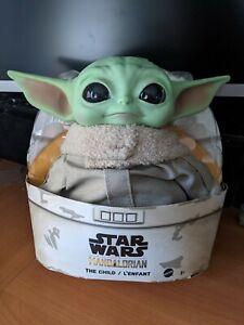 "Baby Yoda Doll Star Wars Mandalorian The Child 11"" Plush Mattel GWD85 New In Box"