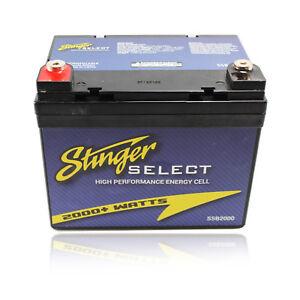 Stinger Select SSB2000 Second Battery for Car/Boat/Marine Audio Stereo 2000 Watt