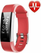Lintelek Fitness Tracker Hr, Activity Tracker Watch with Heart Rate Monitor Red