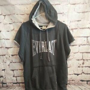 Everlast Sports Boxing Hoodie Hooded Short Sleeve  Sweatshirt Jacket MMA  Boxing