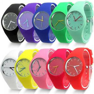 Men Women Silicone Band Quartz Analog Wrist Watch Sports Wristwatch Gift