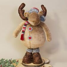 Standing Reindeer Figure with Extendable Legs Christmas Decoration 60cm