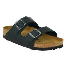 BIRKENSTOCK Arizona Oiled Leather Sandals Black L4-4.5
