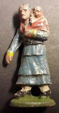 Figurine QUIRALU - LE FAR-WEST - INDIENS AU CAMPEMENT - SQUAW - Aluminium