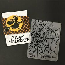 Sizzix embossing folders - Halloween COBWEBS spider web embossing folder 660974