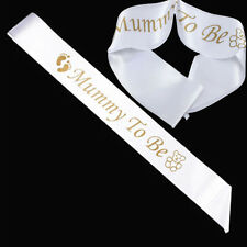 """Simple """"MUMMY TO BE """"Satin Sash Banner Ribbon Baby Shower Party Favor New Mom"""