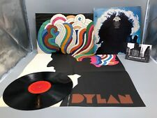 "Bob Dylan Milton Glaser Poster and Greatest Hits 12"" Vinyl Record"