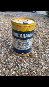 Vintage metal oil can Duckhams