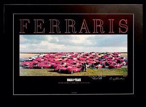 1984 Monterey Historic Races FERRARI Phil HILL Luigi CHINETTI 1/200 S/N Poster