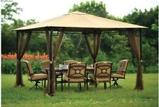 Metal Roof Gazebo Backyard Netting Mosquito Net 10ft x 10ft Curtains Only