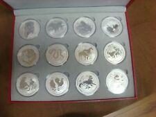 2008-2019 Australia Lunar Series II 1 Oz Collection Set 12 BU Silver Complete