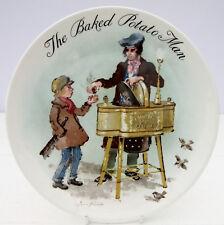 Vintage Wedgwood Bone China Collector Plate Baked Potato Man 1985 John Finnie