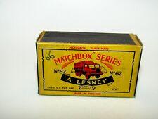 "Matchbox Moko Lesney No 62 General Service Truck ""C"" Empty Box Very Good - RARE"