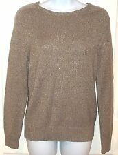 Womens H&M~GOLD Oversized SWEATER~size SMALL~NEW~Sparkle