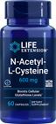 N-ACETYL- L- CYSTEINE (NAC)  600mg 60 Capsule LIFE EXTENSION