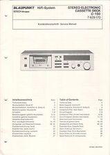 Blaupunkt-Cassette Deck c-150 - servizio clienti carattere Service Manual-b3146