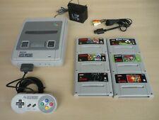 SNES Super Nintendo Spielekonsole + 6 Spiele Zombies, Yoshi`s Island, Alien usw.