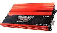 POWER ACOUSTIK D5-2200 5/3 CHANNEL 2200 WATT DEMON AMP CAR STEREO AMPLIFIER 2000