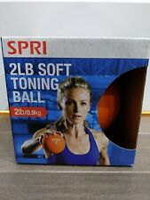 SPRI 2lb Toning Core Fitness Exercise Weight Ball Soft Grip Muscle Sculpting