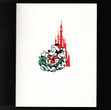 Euro Disney Company Unused Christmas Card 1992 or 1993