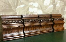 4 Acanthus leaves corbel bracket Antique french carved wood furniture ornament