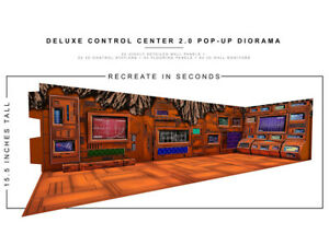 Deluxe Control Center 2.0 1/12 Scale Pop-Up Diorama BY EXTREME-SETS INC new