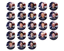 "2016 PRESIDENTIAL CANDIDATES 1.5"" CAMPAIGN BUTTON SET, 23 pieces"