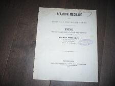 THESE DE MEDECINE 1868 HIVERNAGE A L'ILE MAURICE