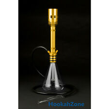 "20"" Super Modern Unique GOLD Hookah Style Silicone 1 or 2 Hose Diffuser"