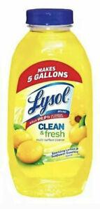 NEW Lysol Cleaner & Fresh Multi-Surface Lemon 10.75oz Concentrate Makes 5 Gallon