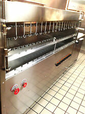 BRAZILIAN GAS GRILL FOR BBQ - 53 SKEWERS - NSF APPROVED - PROFESSIONAL GRADE