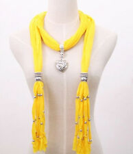 Yellow Soft Charm Pendant Scarves Jewelry Scarves Fashion Jewelry