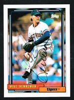 Mike Henneman #293 signed autograph auto 1992 Topps Baseball Trading Card