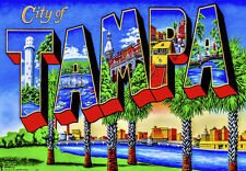 "City of Tampa 3.25""x2.25"" Collectibles Travel Fridge Handmade Magnet  (PMD10011)"