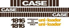 Case 1816 replacement decals sticker / Decal kit MID