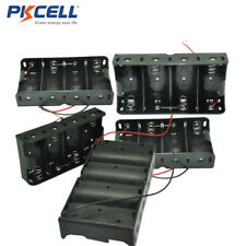 D Size Battery Power Supply Holder Case Box with Wire 4-slot Pack of 8