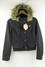 Womens HOLLISTER Jacket Coat HOODED PARKA Zipper URBAN SPORT SLIM Small UP2RL