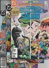 Secret Origins #14 vg, Legends #2,3,4(1987) 1st modern Suicide Squad app. VF