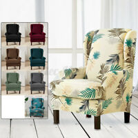 2 Types Stretch Armchair Wingback Sofa Chair Wing Covers SlipCover Protector