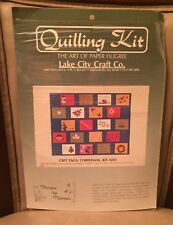"LAKE CITY CRAFTS QUILLING KIT ""GIFT TAGS, CHRISTMAS"" 12 DESIGNS, USA MADE"