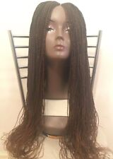 Million braids wig twisted handmade wig, with lacefront parting