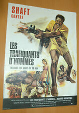 RICHARD ROUNDTREE SHAFT IN AFRICA 1973 BLAXPLOITATION ORIGINAL FRENCH  POSTER