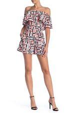 NEW Love...Ady Printed Ruffle Romper DRESS SIZE MEDIUM $98 ANTHROPOLOGIE