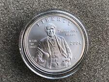 2004 Thomas Alva Edison Commemorative Uncirculated Silver Dollar Coin