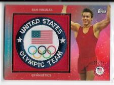 RARE 2016 TOPPS OLYMPIC SAM MIKULAK TEAM PATCH CARD ~ /25 ~ USA GYMNASTICS GREAT